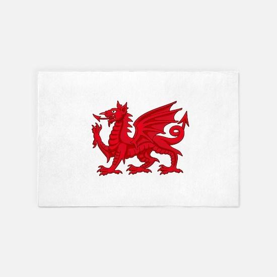 Welsh Dragon 4' x 6' Rug