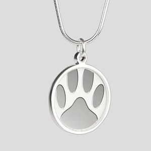 Metallic Dog Paw Print Necklaces