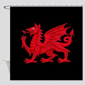 Welsh Dragon Shower Curtain