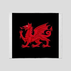 Welsh Dragon Throw Blanket