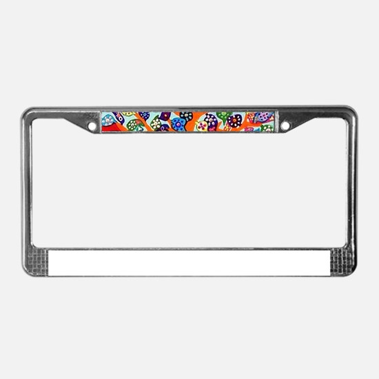 Heart Flowers - Tree of Life - License Plate Frame