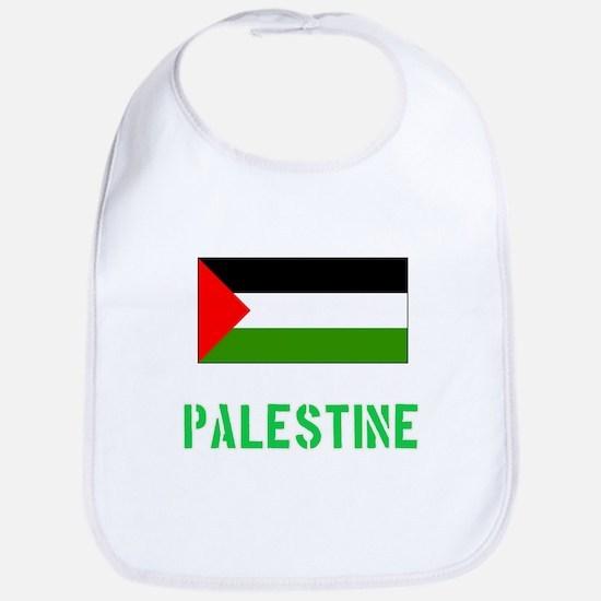 Palestine Flag Stencil Green Design Baby Bib
