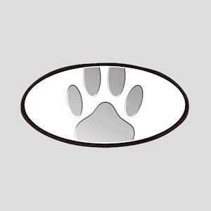 Metallic Dog Paw Print Patch