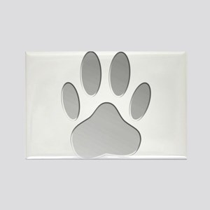Metallic Dog Paw Print Magnets