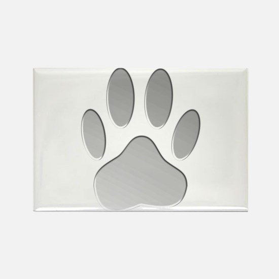 Metallic Dog Paw Print Magnets