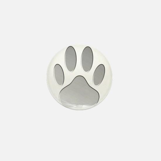 Metallic Dog Paw Print Mini Button