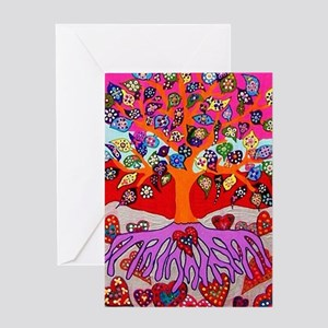 Jewish wedding greeting cards cafepress heart flowers tree of life jenn greeting cards m4hsunfo