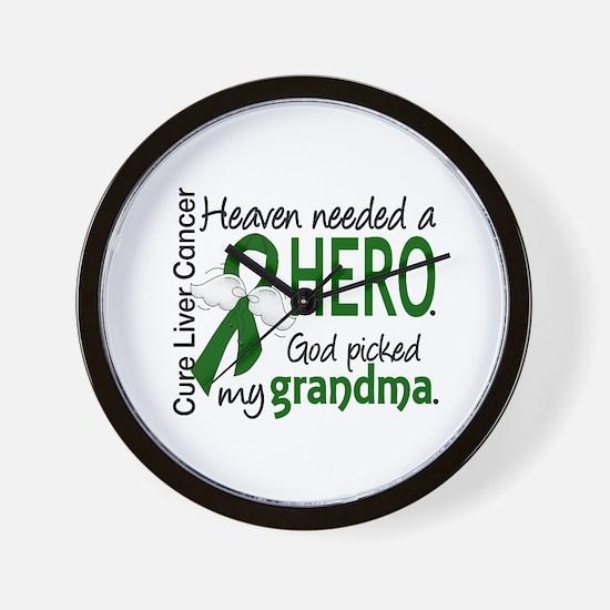 Liver Cancer HeavenNeededHero1 Wall Clock