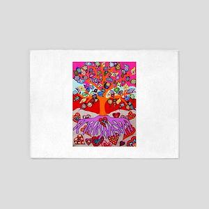 Heart Flowers - Tree of Life - Jenn 5'x7'Area Rug