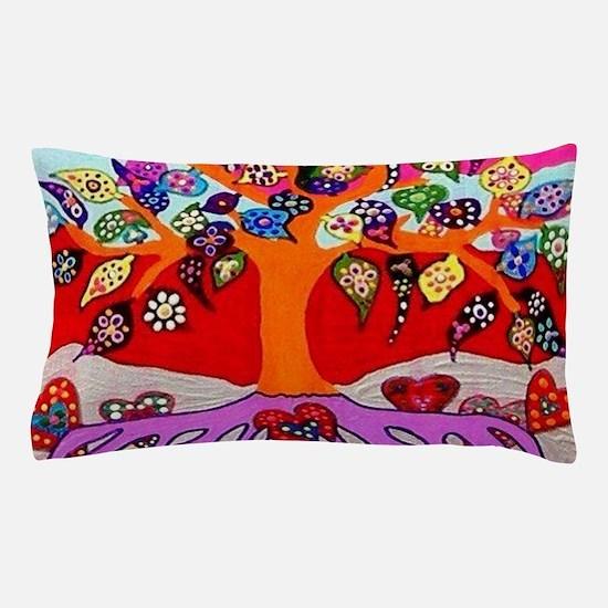 Heart Flowers - Tree of Life - Jennife Pillow Case