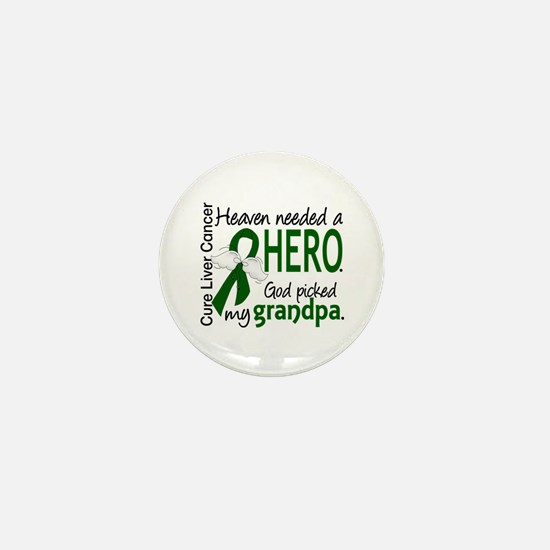 Liver Cancer HeavenNeededHero1 Mini Button