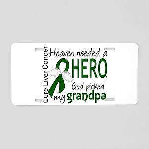 Liver Cancer HeavenNeededHe Aluminum License Plate