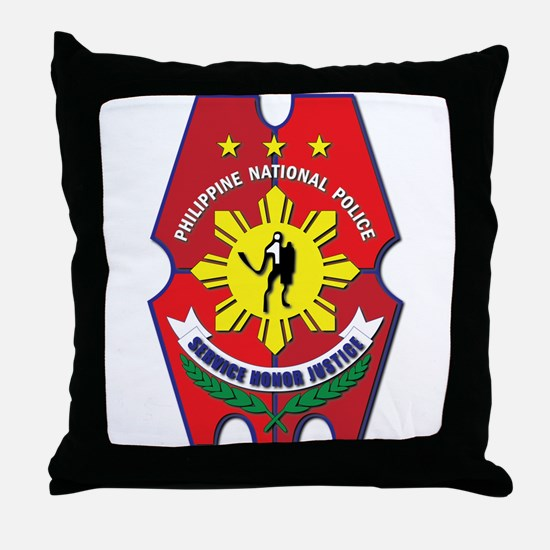 Philippine National Police Seal Throw Pillow
