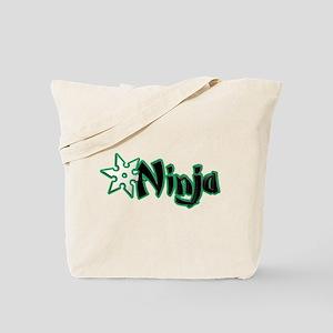 Green Ninja Design Tote Bag
