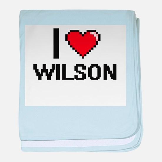 I Love Wilson baby blanket