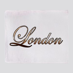 Gold London Throw Blanket