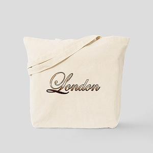 Gold London Tote Bag
