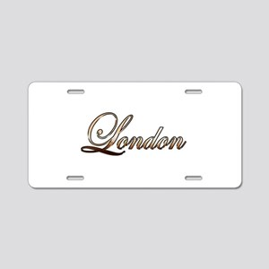 Gold London Aluminum License Plate