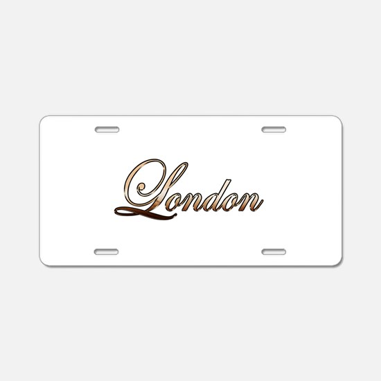 Gold London Aluminum License Plate