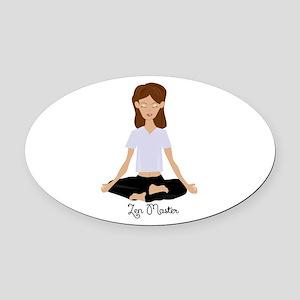 Zen Master Oval Car Magnet