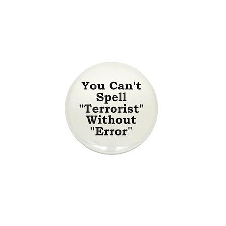 Spell Terrorist Without Error Mini Button (10 pack