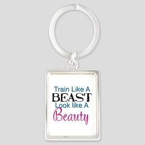 Train Like A Beast Look Like A Beauty Keychains