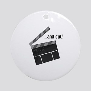 And Cut! Ornament (Round)