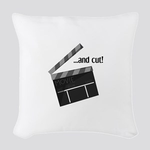 And Cut! Woven Throw Pillow