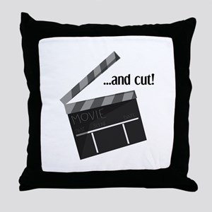 And Cut! Throw Pillow