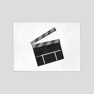 Movie Clapper 5'x7'Area Rug