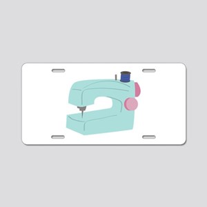 Sewing Machine Aluminum License Plate
