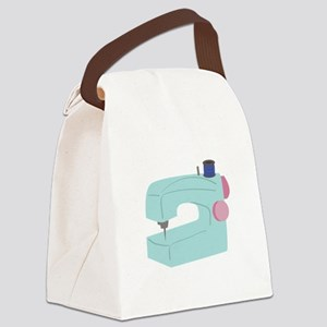 Sewing Machine Canvas Lunch Bag