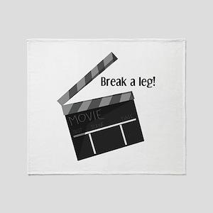 Break A Leg Throw Blanket