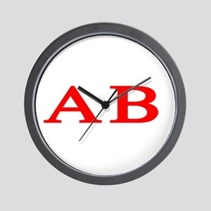 Alpha Beta Wall Clock
