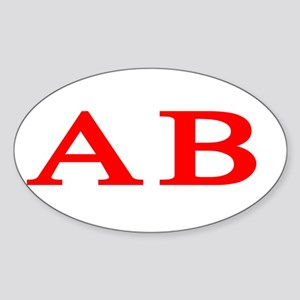 Alpha Beta Oval Sticker