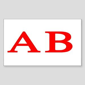 Alpha Beta Rectangle Sticker