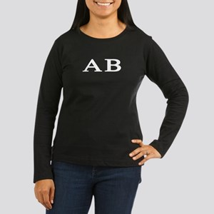 Alpha Beta Women's Long Sleeve Dark T-Shirt