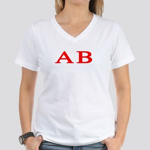 Alpha Beta Women's V-Neck T-Shirt