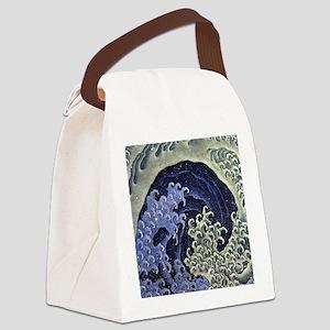 Feminine Wave by Hokusai Canvas Lunch Bag