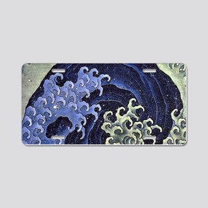 Feminine Wave by Hokusai Aluminum License Plate