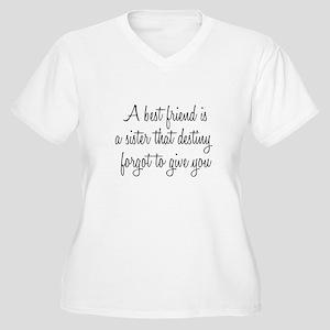 Best Friends Women's Plus Size V-Neck T-Shirt