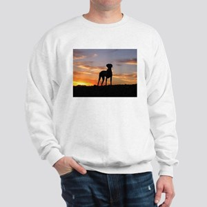 Weimaraner Sunset Sweatshirt