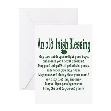 Old irish Blessing Greeting Card