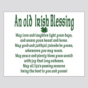 Old irish Blessing Small Poster