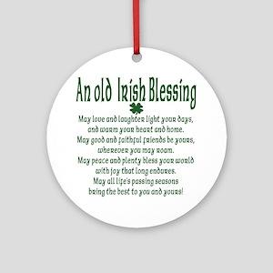 Old irish Blessing Ornament (Round)