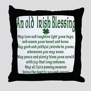 Old irish Blessing Throw Pillow