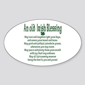 Old irish Blessing Oval Sticker