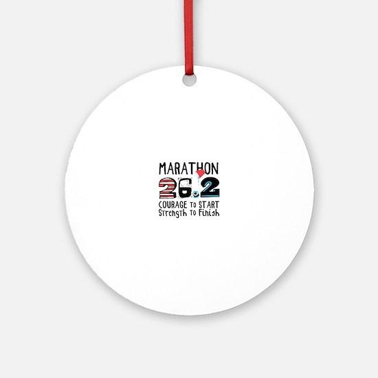 Marathon Courage Ornament (Round)