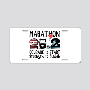 Marathon Courage Aluminum License Plate
