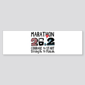 Marathon Courage Bumper Sticker